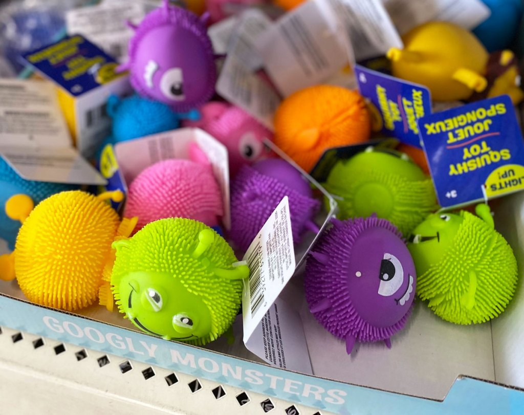 monster themed squishable stress balls