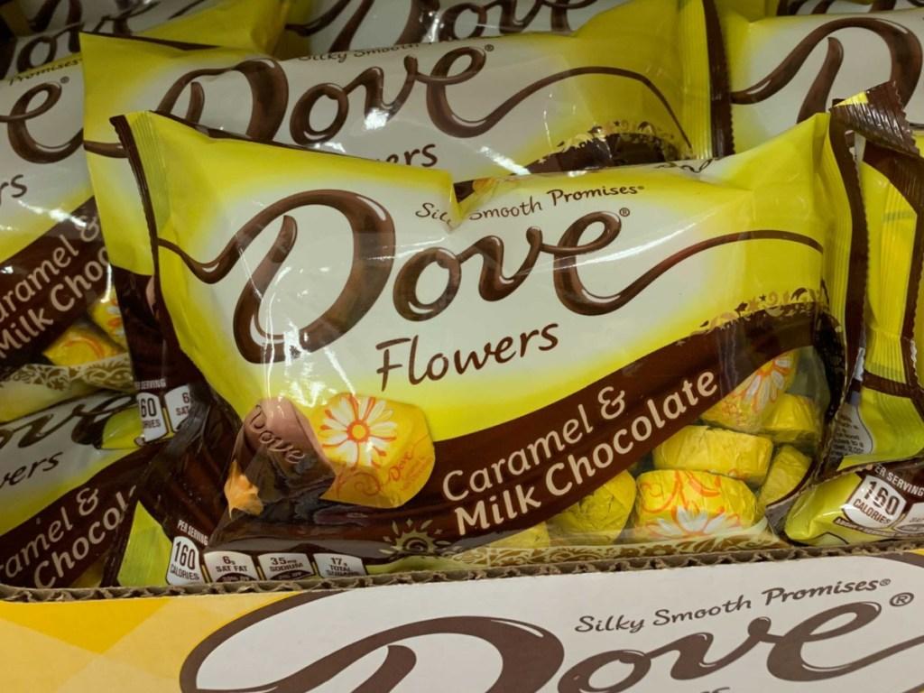 Caramel filled Dove chocolate
