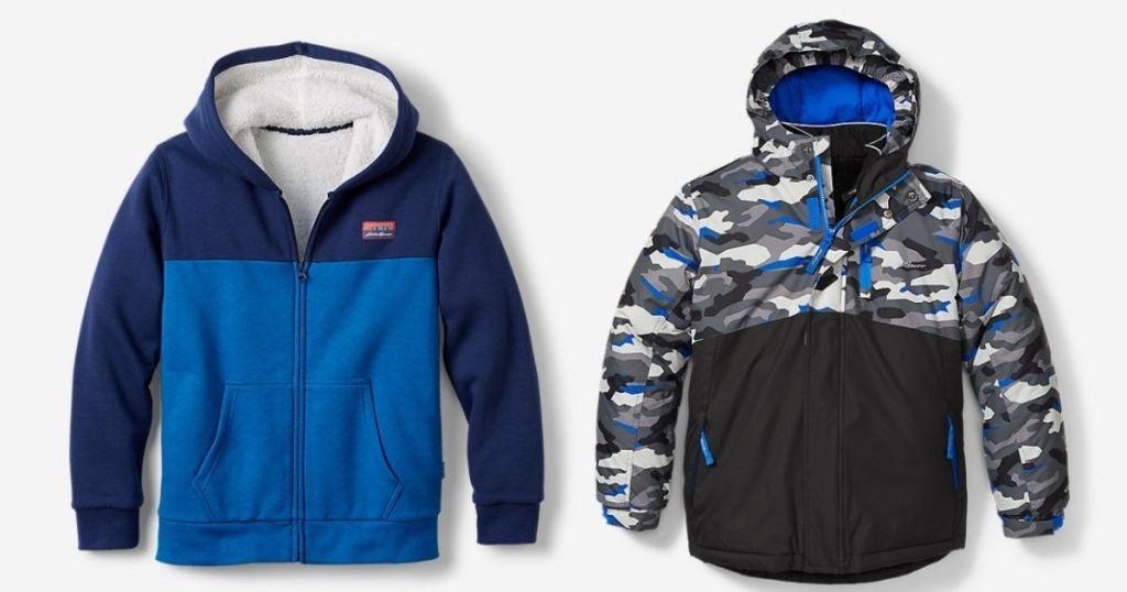 2 Eddie Bauer Boys Fleece & Jackets