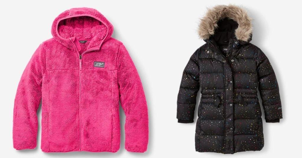 pink and black Eddie Bauer Girls Fleece & Jackets