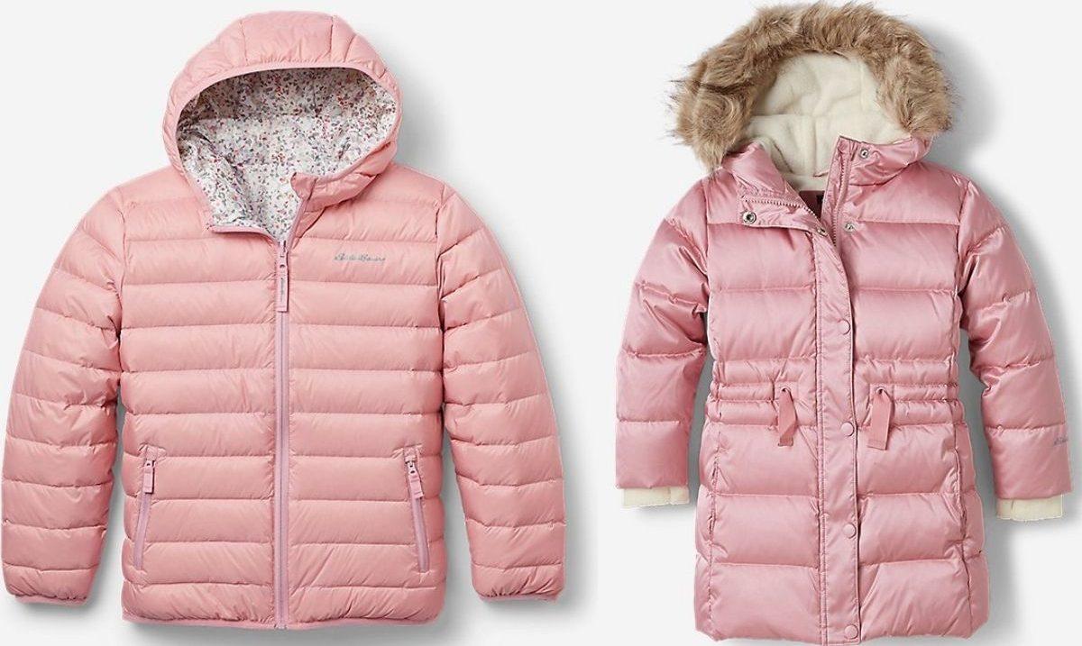 two Eddie Bauer girls winter jackets