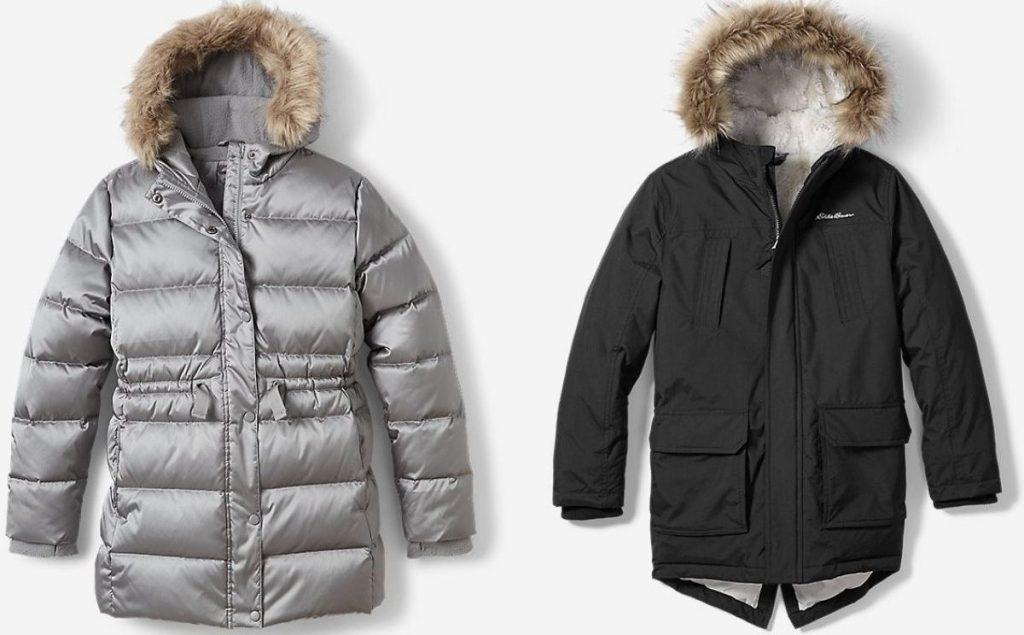 two Eddie Bauer Winter Coats