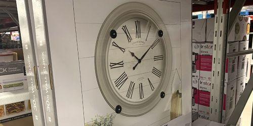 White & Black Farmhouse Clocks Only $19.99 at Sam's Club