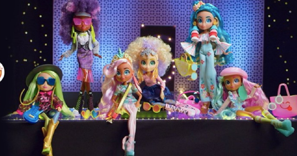 hairdorables dolls in various fashion outfits