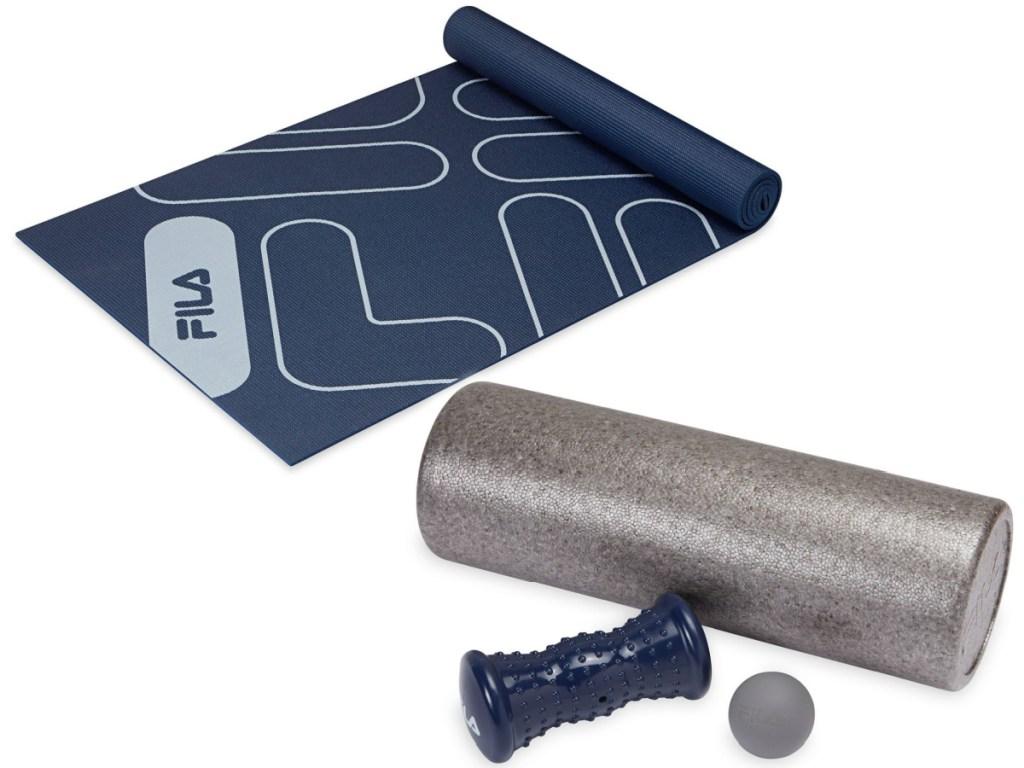 Fila Retro Mat and Fila Total Body Recovery Massage Kit