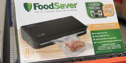 FoodSaver Vacuum Sealing System w/ Bonus Bags from $71.99 Shipped (Regularly $150) + Get $10 Kohl's Cash