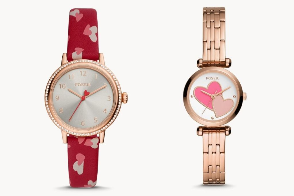 2 heart them Fossil Women's Watches