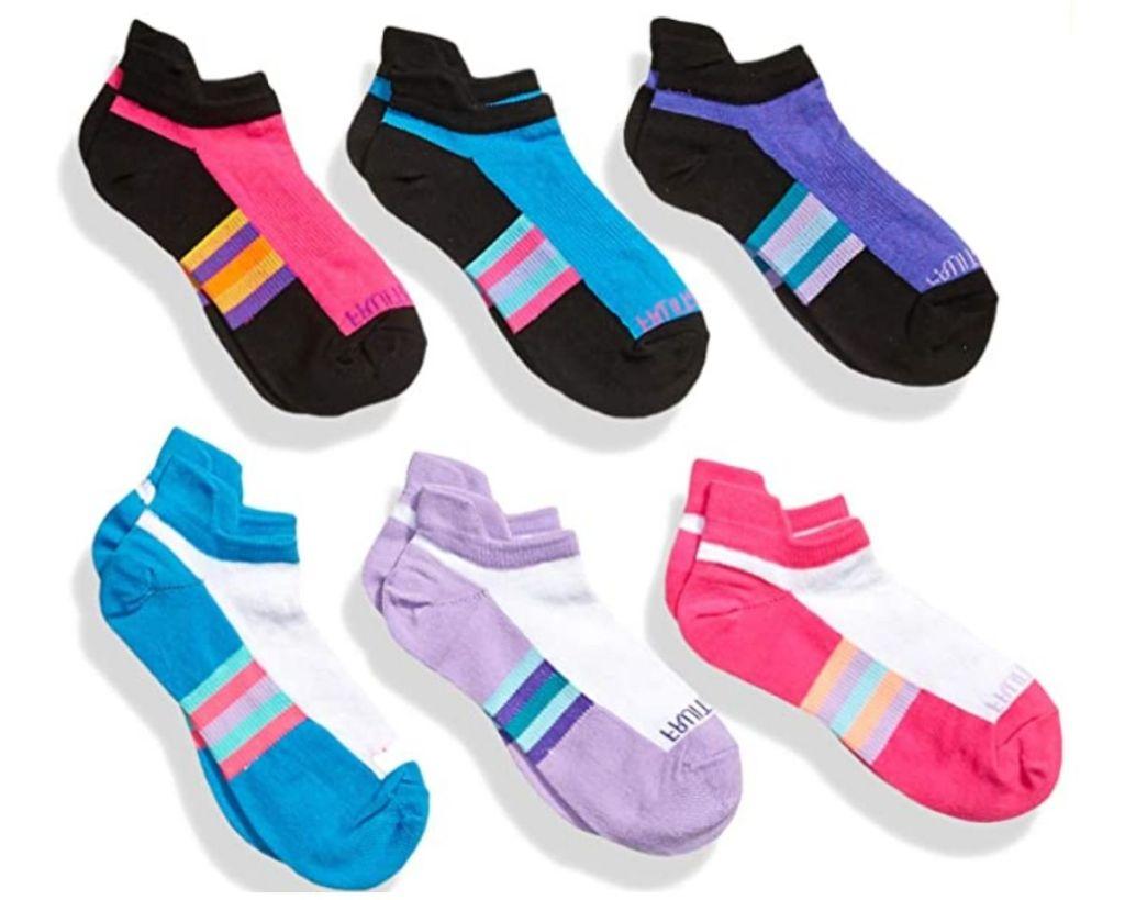 Fruit of the Loom Girls Socks 6-Pack