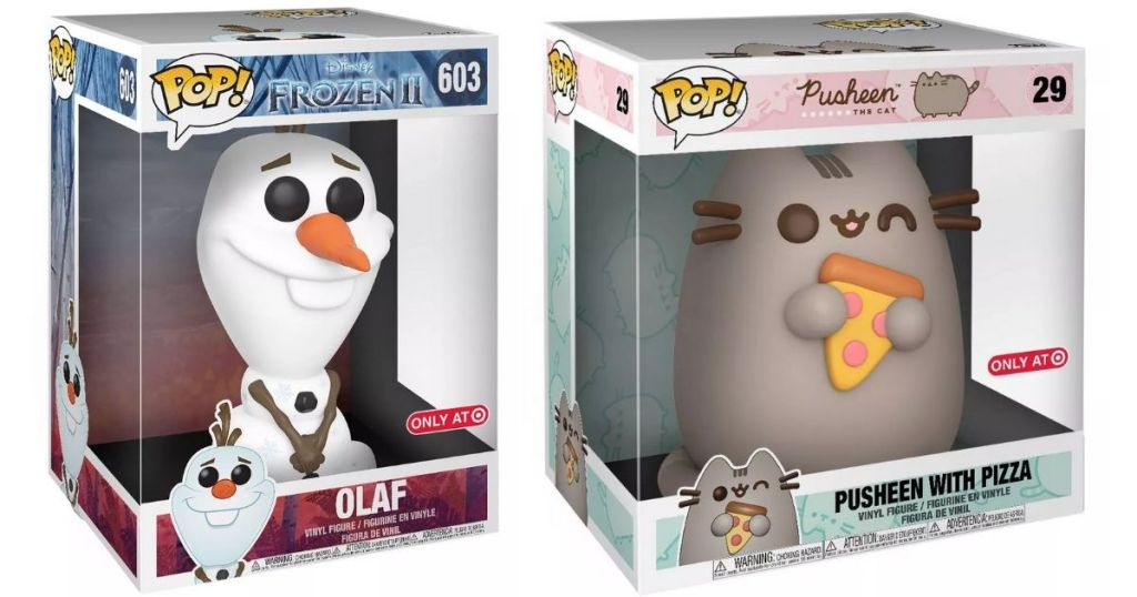 Funko POP! Olaf and Pusheen Figures in packaging
