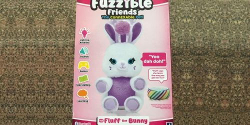 Amazon's Exclusive Fuzzible Friends Fluff The Bunny Only $12.80 (Regularly $20) | Pairs w/ Alexa