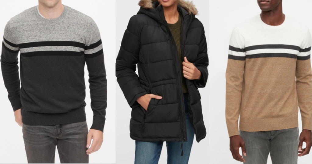 Men's and women's gap facory jackets and sweaters