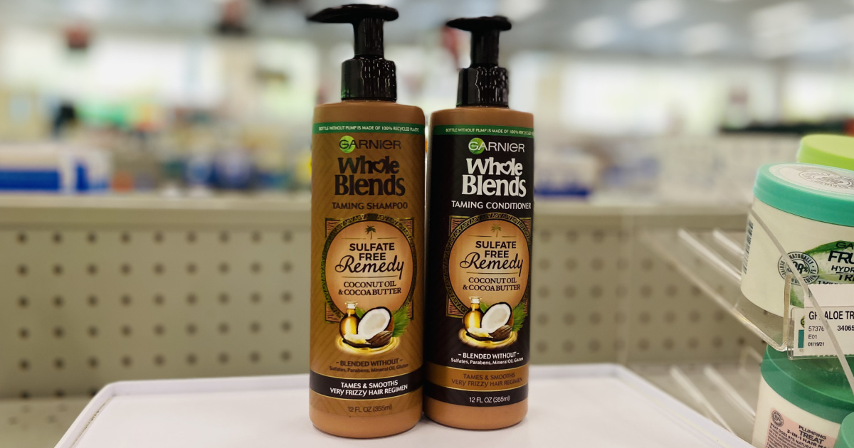Two bottles of sulfate-free shampoo