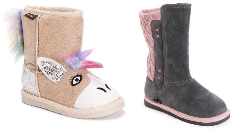 2 pair Girls Muk Luks Boots
