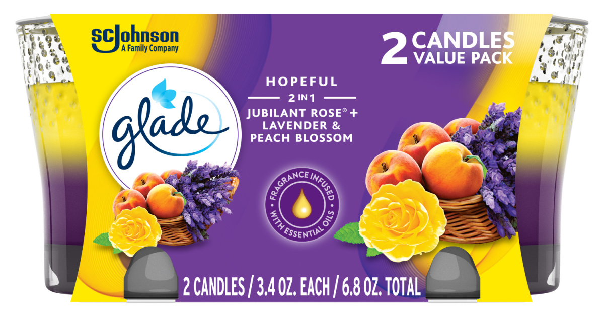 stock image of glade candles