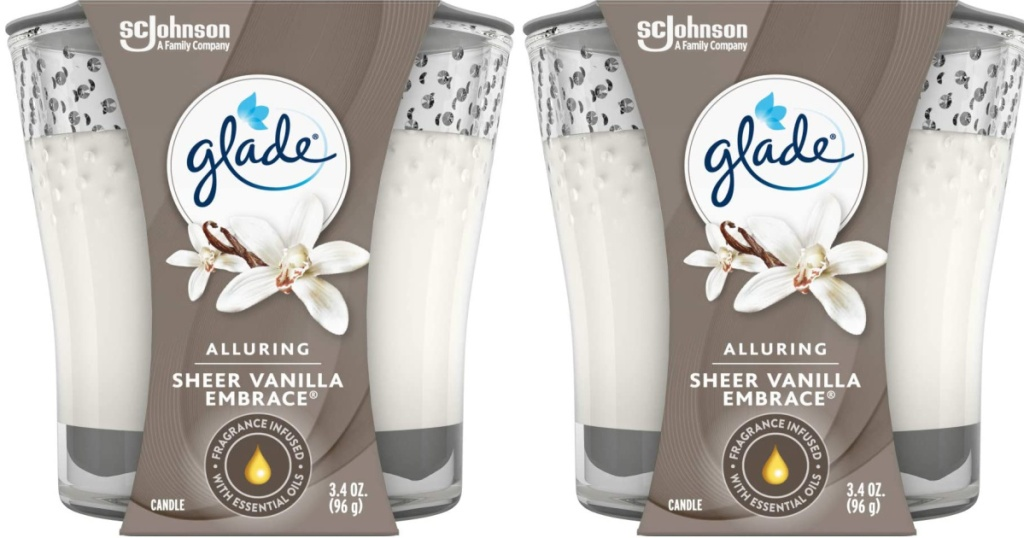 Glade Sheer Vanilla Embrace 3.4-Ounce Candle Jar