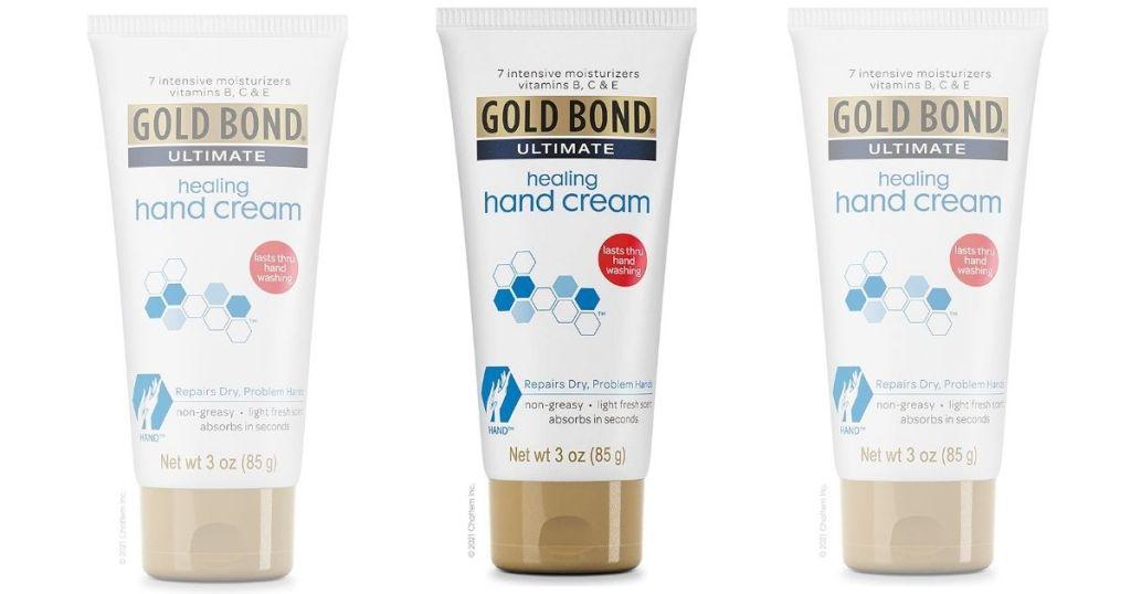 3 Gold Bond Ultimate Healing Hand Creams