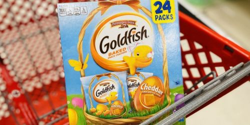 Easter Goldfish Crackers 24-Count Only $7 at Target | Non-Candy Easter Basket Treat
