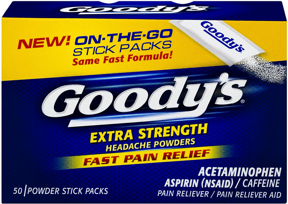 stock image of goodys powder stick packs