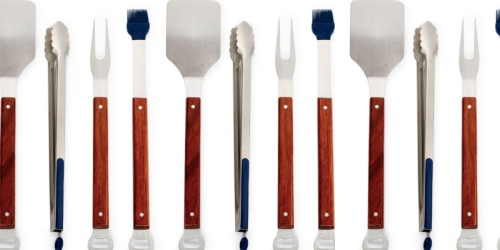 Martha Stewart Wood 4-Piece Grilling Set Only $19.96 on Macy's (Father's Day Gift Idea!)