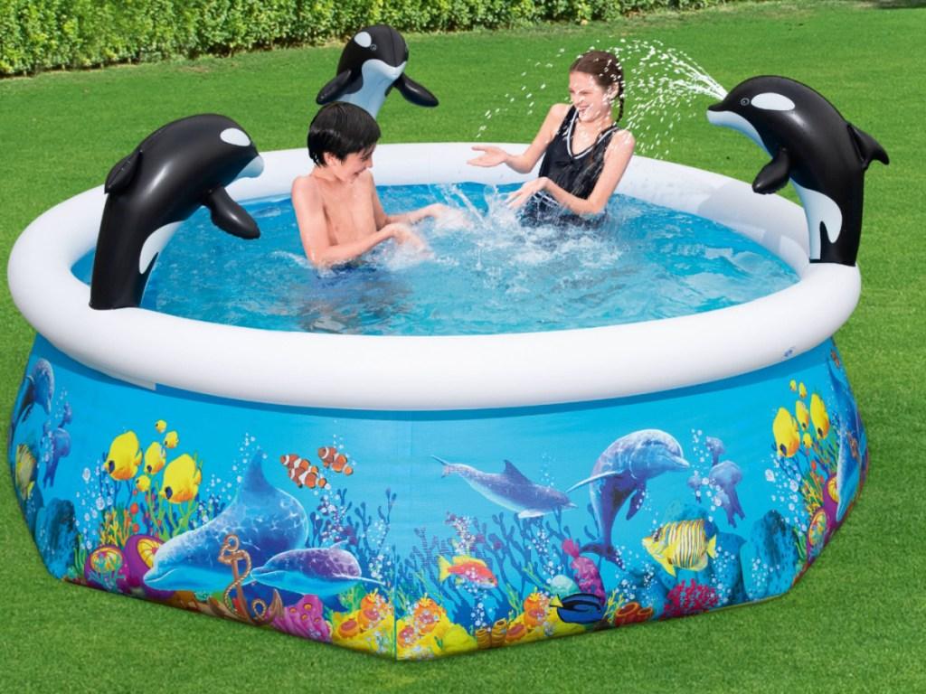 H2OGO! Orca Inflatable Spray Pool