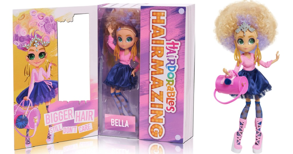 Hairdorables Bella doll in the package