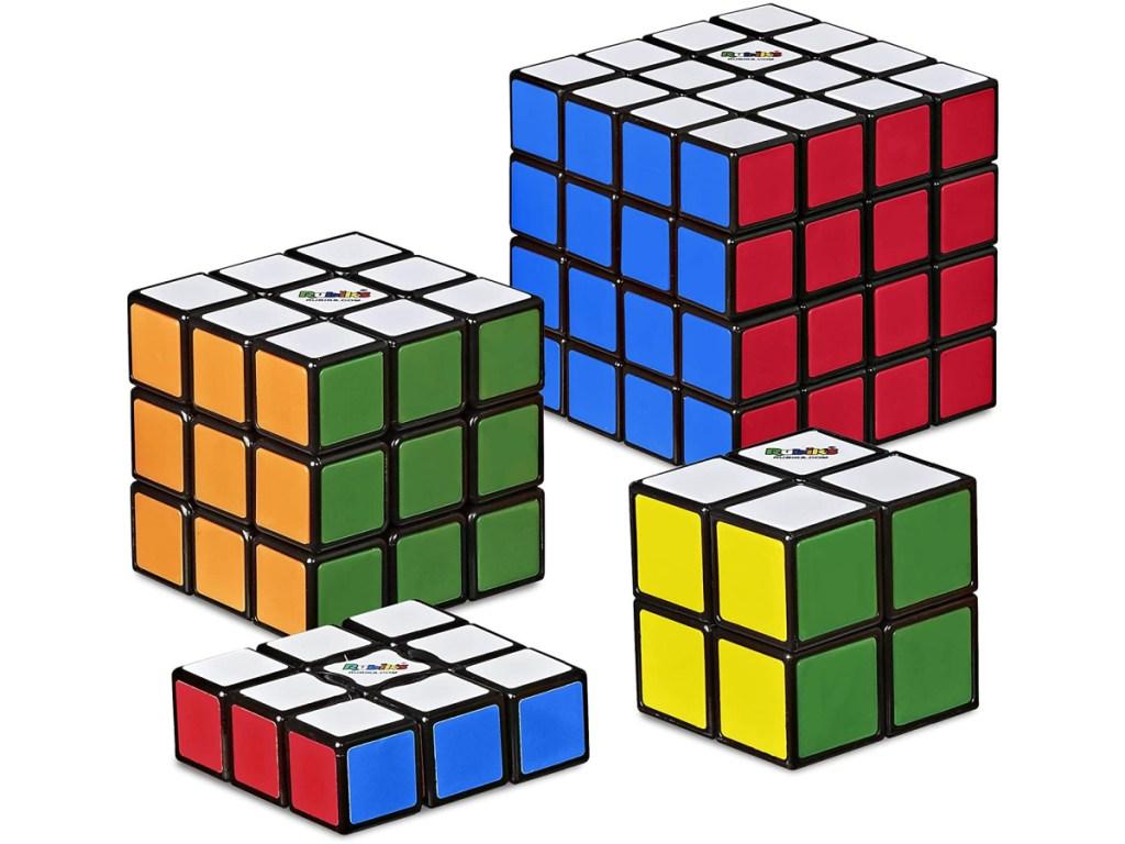 Hasbro Gaming Rubik's Solve The Cube 4-Pack Bundle