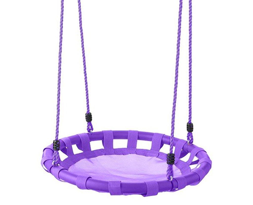 round purple kids swing