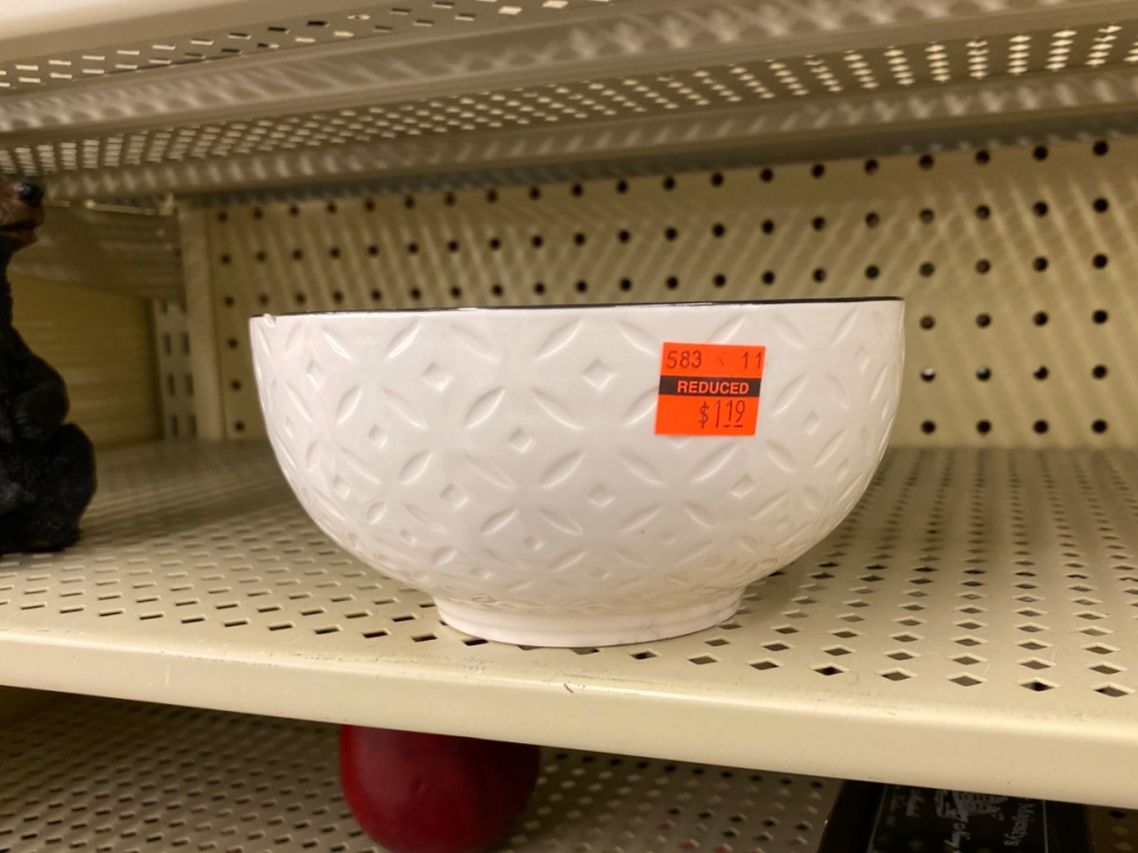 clearnace dish at hobby lobby on the store shelf
