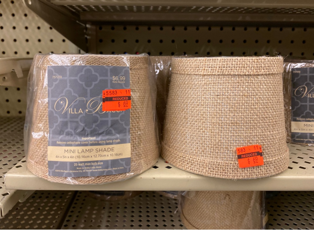 2 mini lamp shades at hobby lobby