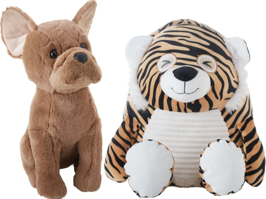 Holiday Time Bulldog and Tiger Plush