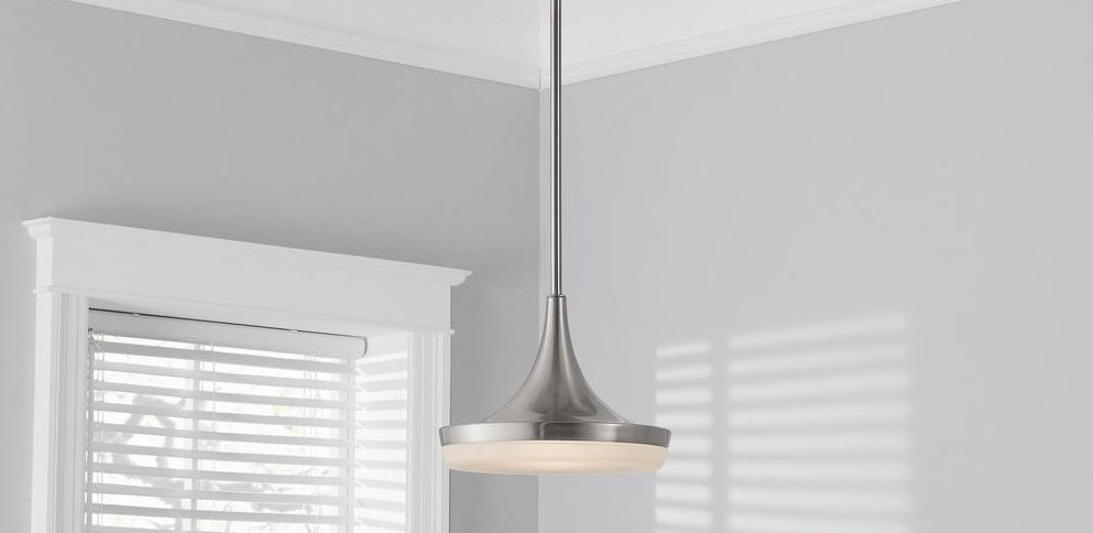 pendant light hanging from the ceiling