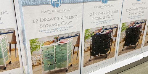 12-Drawer Rolling Storage Cart Only $39.99 at ALDI