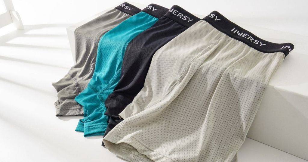 Innersy gray green black and white boxer-briefs