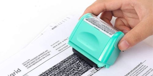 2 Identity Theft Protection Stamps & 3 Refills Only $12 Shipped on Amazon (No Need to Shred Your Mail!)