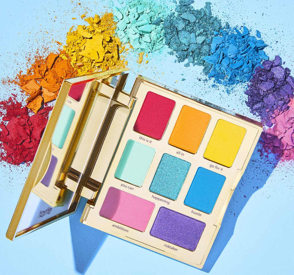 tarte eyeshadow palette with rainbow shades