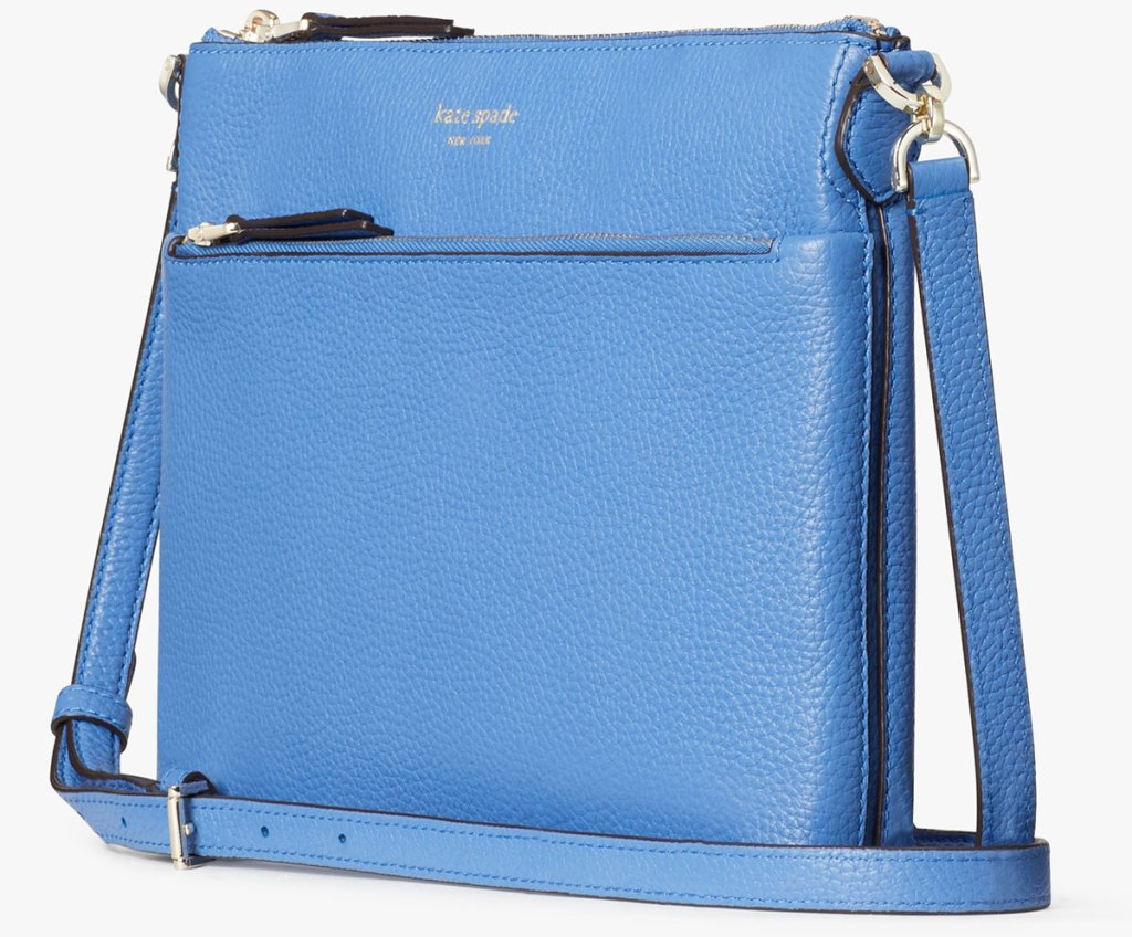 blue leather kate spade crossbody bag