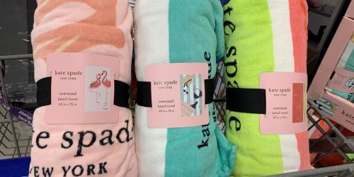 Kate Spade Oversized Beach Towels Only $14.99 at Sam's Club   In-Store Only