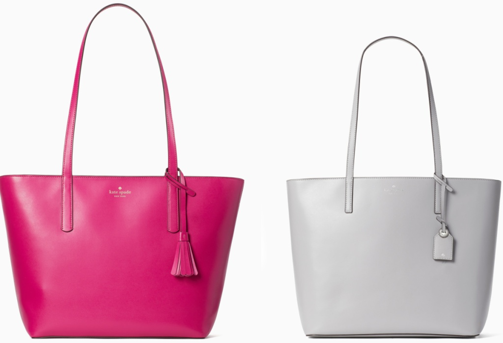 Two styles of Kate Spade tote bags