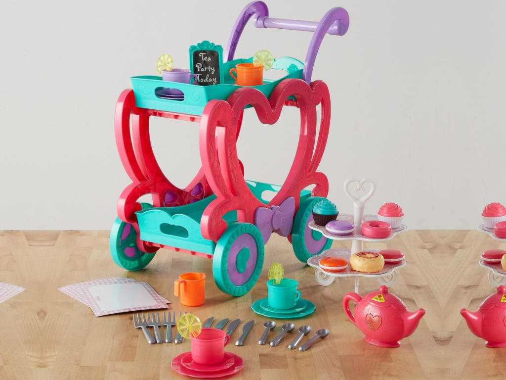 tea party cart and accessories