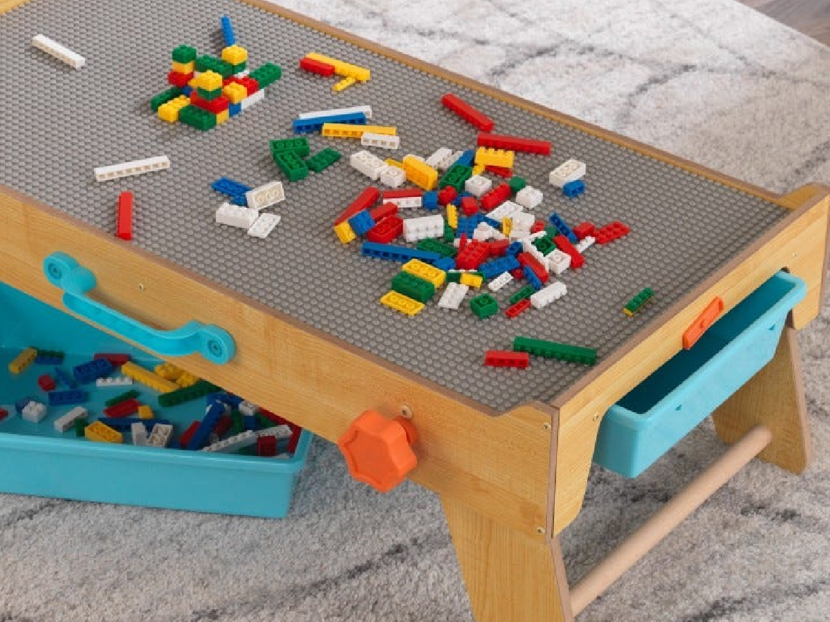 KidKraft Activity Table with legos and drawers for storage