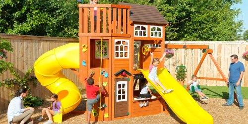 $700 Off KidKraft Wooden Swing Set w/ Sam's Club Instant Savings