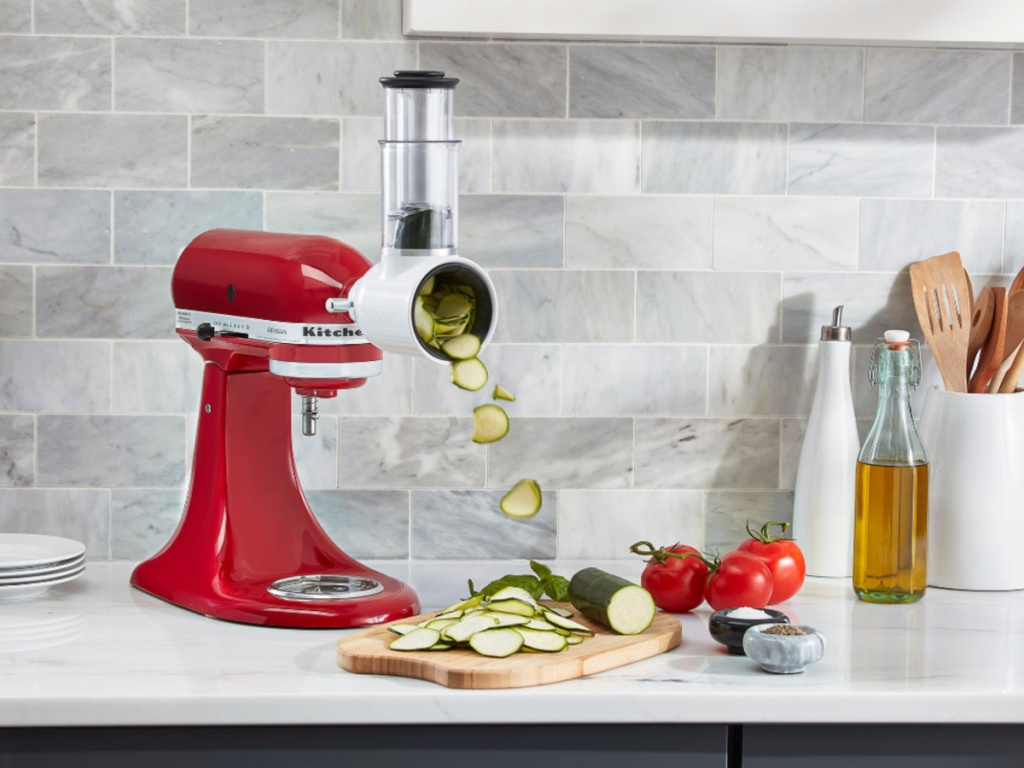 KitchenAid with a slicer attachment