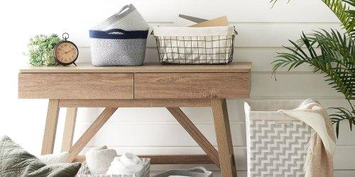 Get Organized w/ Trendy Storage Bins & Baskets from $6 on Kohls.com