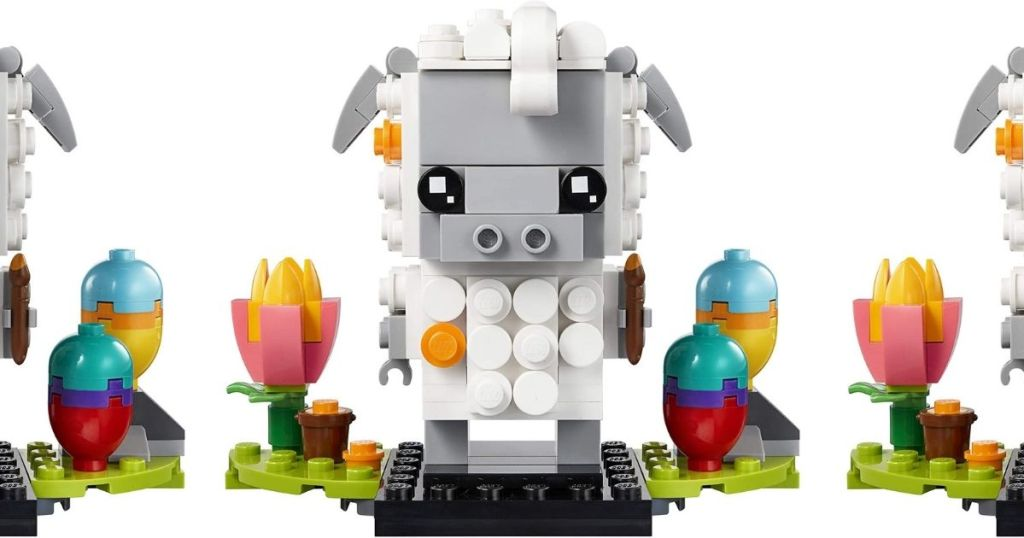 LEGO Sheep with Easter eggs