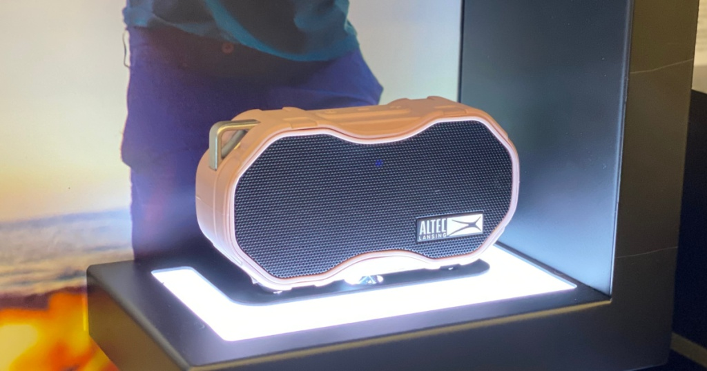 speaker with light under it