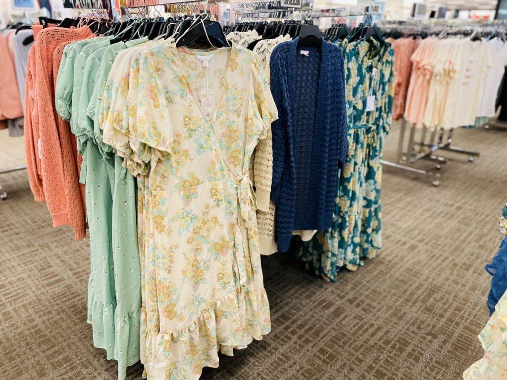 dresses on hangers at Kohl's