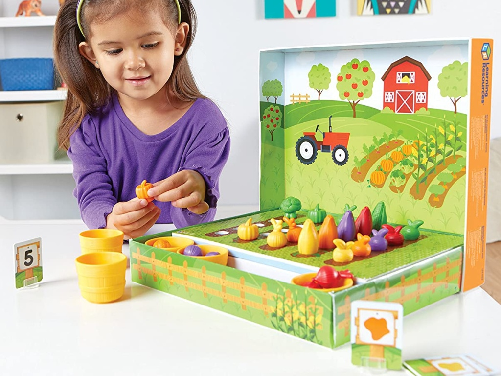 Learning Resources Veggie Farm 46-Piece Sorting Set