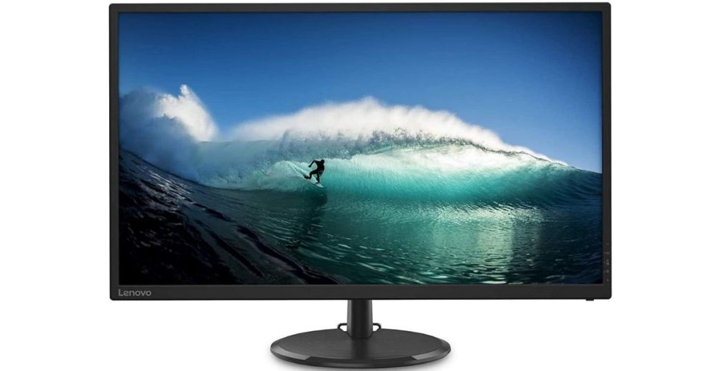 LED monitor with surfer on home screen