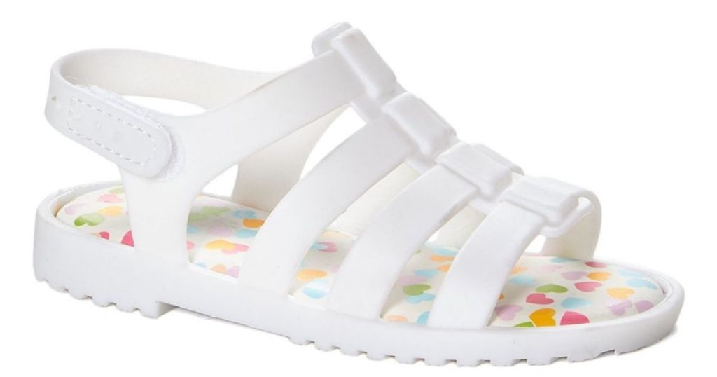 Limited Too Girls Cage Sandal in white