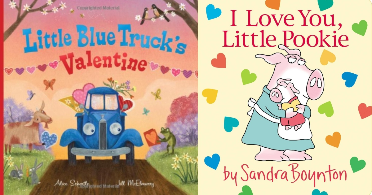 Little blue truck valentine and I love you little Pookie book covers